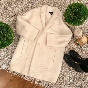 🐘Massimo Dutti white weave coat size L